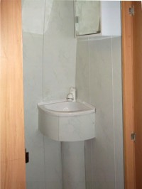 Handbasin, bathroom sink fitted by Céide Campervan Conversions, Co. Donegal, North-West Ireland