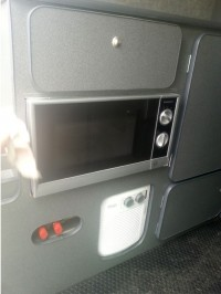 Close up of microwave oven and heater in van conversion by Céide Campervan Conversions, Donegal, Ireland