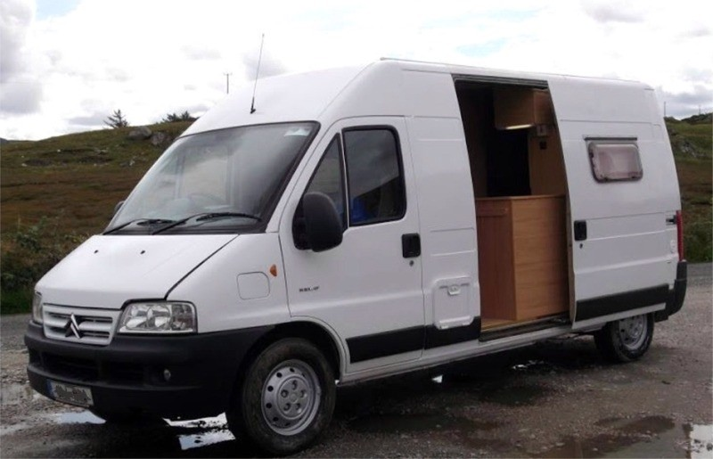 A Van After Conversion To Campervan