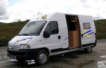 Example external transfers on completed campervan converions - these can be made to the customer's specification