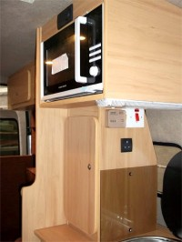 Microwave & Oven fitted by Céide Campervan Conversions, Co. Donegal, North-West Ireland
