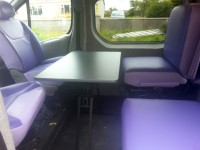 New seats and table fitted in van by Céide Campervan Conversions, Donegal, Ireland