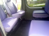 New seats fitted in van by Céide Campervan Conversions, Donegal, Ireland