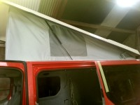 New elevating roof on campervan fitted by Céide Campervan Conversions, Donegal, Ireland