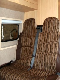 Upholstered Seating / Beds, Kitchen Areas & Cupboards - Camper interiors fitted to specification by Céide Campervan Conversions, Co. Donegal, North-West Ireland