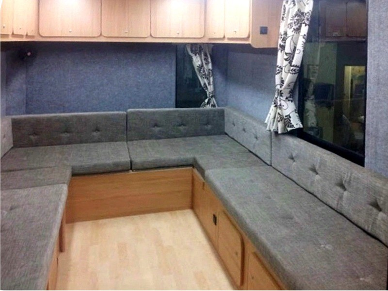 This Seating Area Converts Into A 5 Berth Sleeping Area At