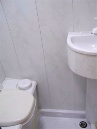 Toilet fitted by Céide Campervan Conversions, Co. Donegal, North-West Ireland