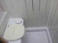 Toilet & Shower bowl fitted by Céide Campervan Conversions, Co. Donegal, North-West Ireland